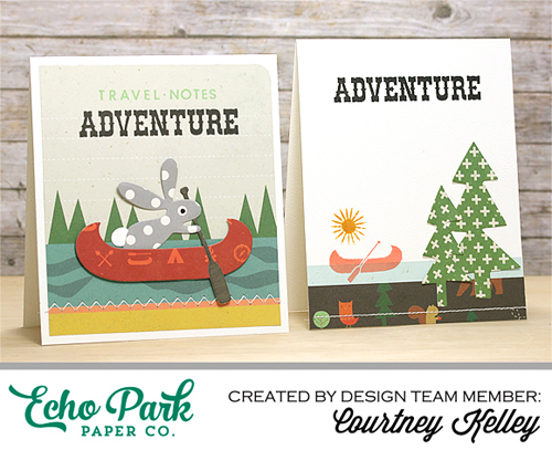 "Adventure Card set by Courtney Kelly with the ""The Wild Life"" collection and designer dies by #EchoParkPaper"