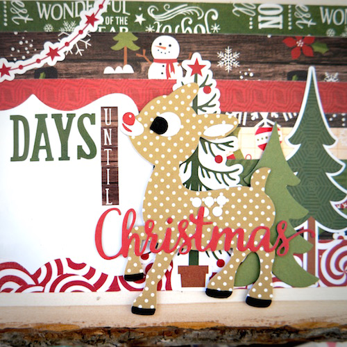 "Christmas Countdown by designer Courtney Lee with the ""The Story of Christmas"" collection by #EchoParkPaper"
