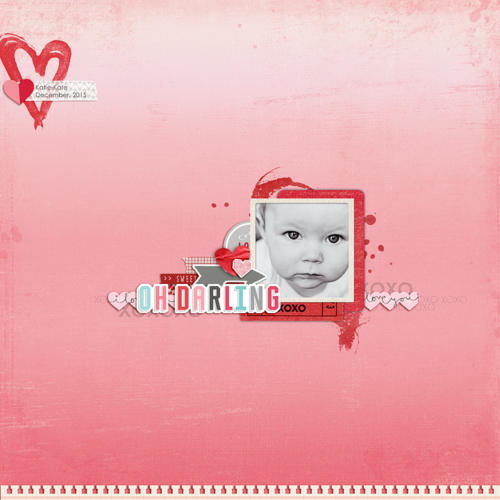 "Oh, Darling Digital layout by Rachael Sheedy with the ""Head Over Heels"" digital kit by #EchoParkPaper"