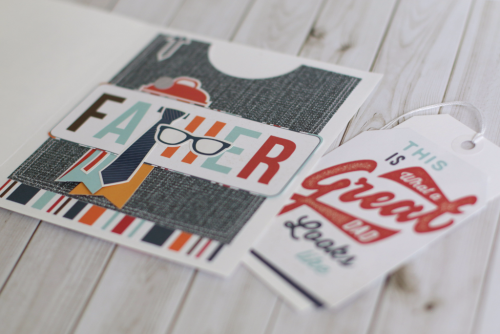 """Father's Day card by Anya Lunchenko featuring the """"Team Dad"""" collection and designer stamps by #EchoParkPaper"""