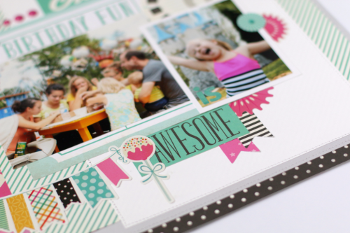 """Birthday Layout by Anya Lunchenko  with the """"Party Time"""" Collection by #EchoParkPaper"""