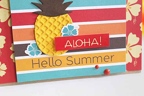 Aloha summer card by Kimberly Crawford featuring papers and designer dies by #EchoParkPaper