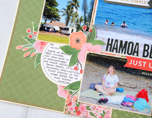 "Hamoa Beach Layout by Jana Eubank featuring the ""Flora No. 1"" collection by #CartaBellaPaper"