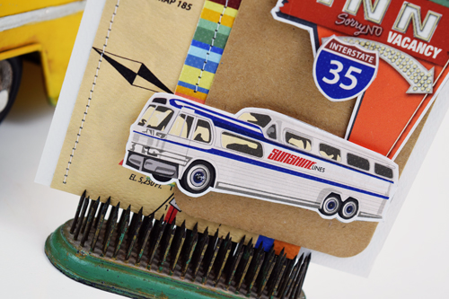 "Bus card by Becki Adams featuring the ""Are We There Yet?"" Collection by #CartaBellaPaper"