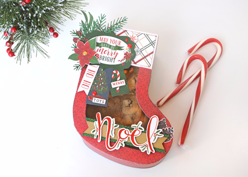 """Twas the Night Before Christmas"" Stocking Box by Jana Eubank for #EchoParkPaper"