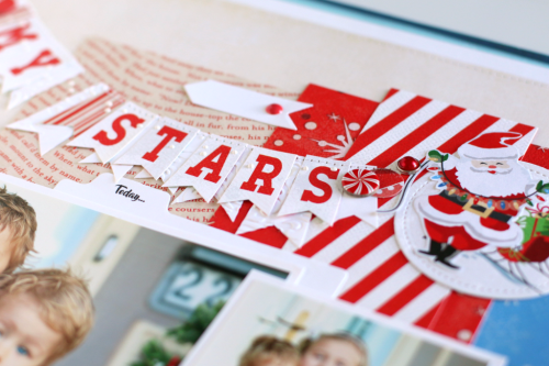 "Oh My Stars Layout by Anya Lunchenko with the ""A Very Merry Christmas"" collection by #CartaBellaPaper"