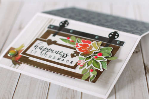 """Happiness is Homemade"" interactive card by Anya Lunchenko for #CartaBellaPaper with the ""Welcome Home"" collection"