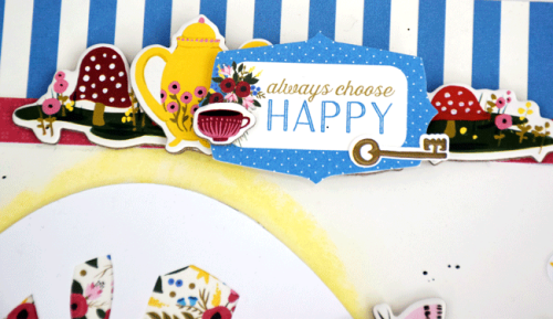 """""""Always Choose Happy"""" Layout by Tya Smith with the """"Alice in Wonderland"""" collection by #EchoParkPaper"""