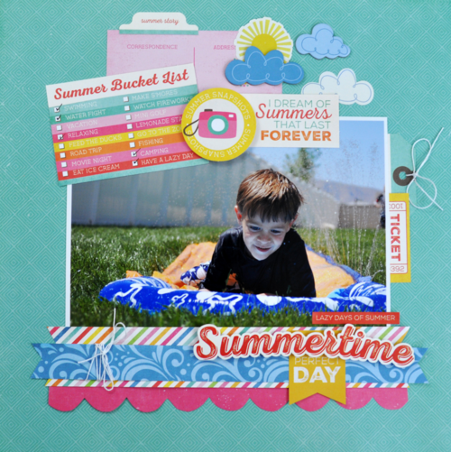 I Love Sunshine Layout and Video Tutorial by Jen Gallacher for #echoparkpaper