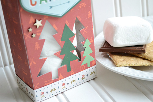 "Smores window treat box by aly dosdall with ""The Wild Life"" Collection by #EchoParkPaper"