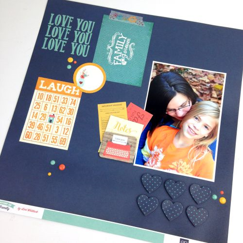 """Love You"" layout by Tania Willis for #EchoParkPaper with the ""The Story of Our Family"" Collection"