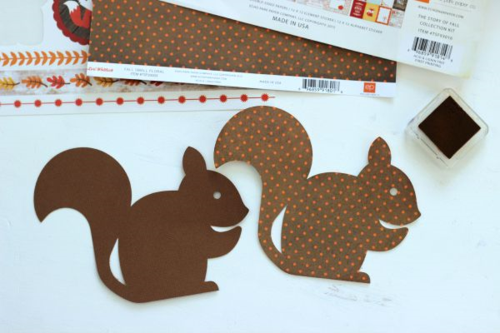 "Thankful Chipmunk Shaped Card by Holly Gagnon with the ""The Story of Fall"" Collection by #EchoParkPaper"