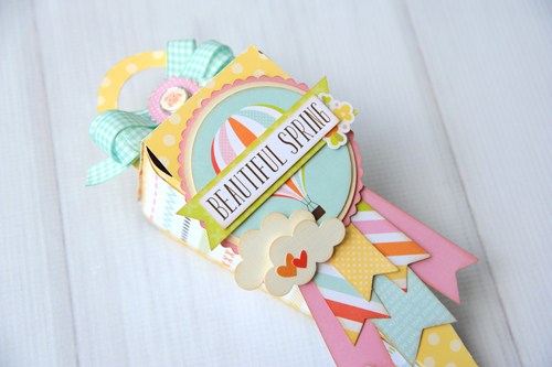 """Spring Tussie Mussie by Jana Eubank  with the """"Spring"""" collection and designer dies by #EchoParkPaper"""