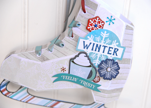 "Paper Ice Skates Home Decor/Gift Wrap project by Jana Eubank with the ""I Love Winter"" collection by #EchoParkPaper"