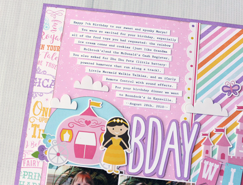"Birthday Wish Layout by Jana Eubank with the ""Perfect Princess"" collection by @EchoParkPaper"