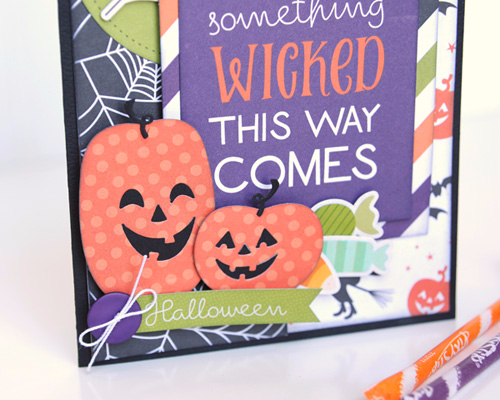 "Halloween card by Jana Eubank with the ""Halloween Town"" collection and Designer Dies by #EchoParkPaper"