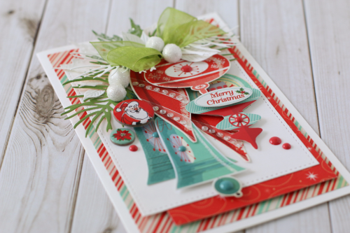 "Christmas bells card by Anya Lunchenko with the ""A Very Merry Christmas"" collection by #CartaBellaPaper"