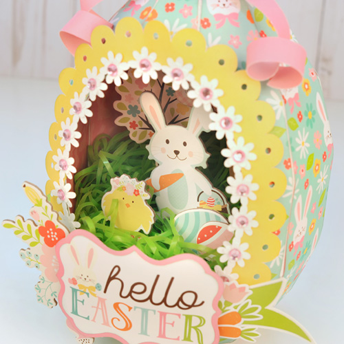 """Paper Sugar Egg by Jana Eubank featuring the """"Hello Easter"""" collection by #EchoParkPaper"""
