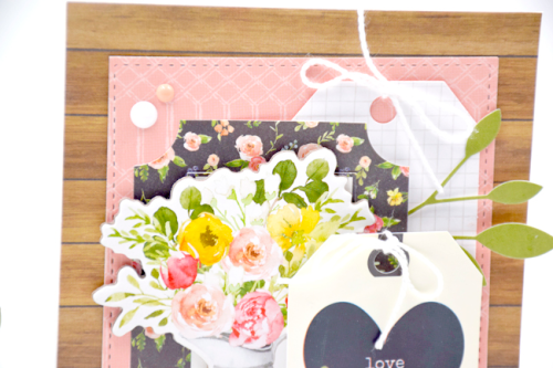 """Love Grows Here Spring Card by Tya Smith with the """"Spring Market"""" collection from #CartaBellaPaper"""