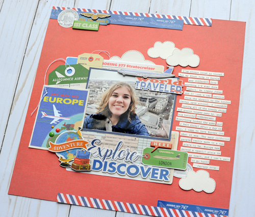 """Explore and Discover Layout by Jana Eubank featuring the """"Passport"""" collection by #CartaBellaPaper"""