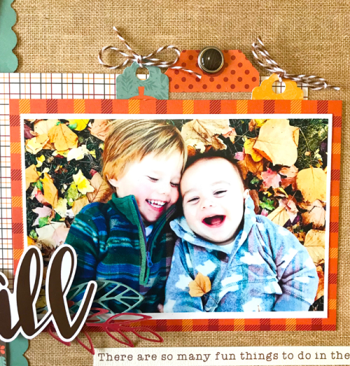 "Fall Days Layout by Tya Smith featuring the ""Celebrate Autumn"" collection by #EchoParkPaper"