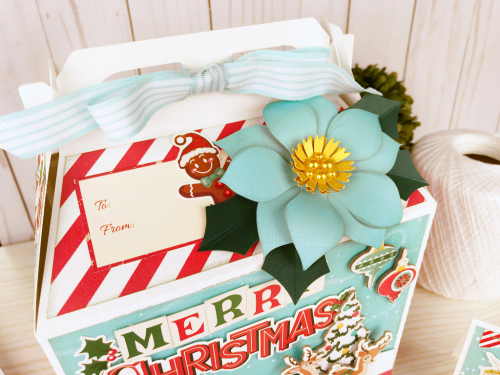"""Christmas Gift or Treat box by Jana Eubank featuring the """"Santa's Workshop"""" collection by #CartaBellaPaper"""