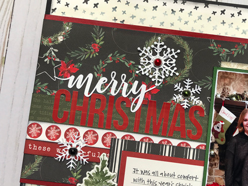 "Merry Christmas layout by Jana Eubank featuring the ""Christmas"" collection by #CartaBellaPaper"