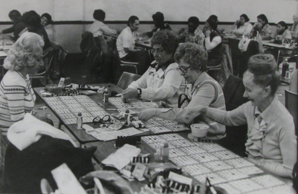 Women playing bingo, photograph, about 1970, courtesy of The Strong, Rochester, New York.