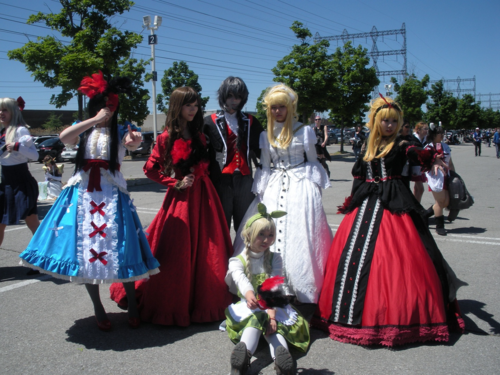 Ballgown cosplayers