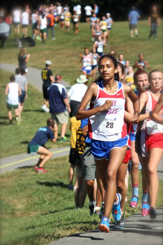 Shreya Nalubola in a race