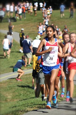 Shreya Nalubola in a race