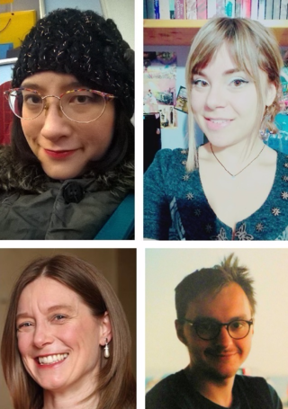 #citylis student panel  Top-left, Ludi Price and Top-right, Dimitra Charalampidou Bottom-left, Alison Pope and Bottom-right, Daniel van Strien