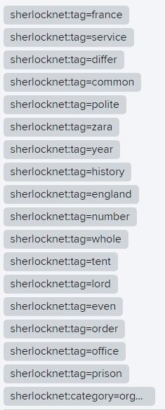 Sherlocknet tags