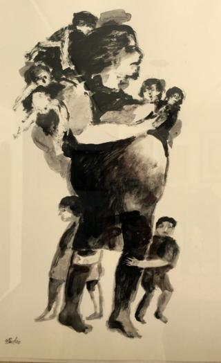 Mujer con hijos