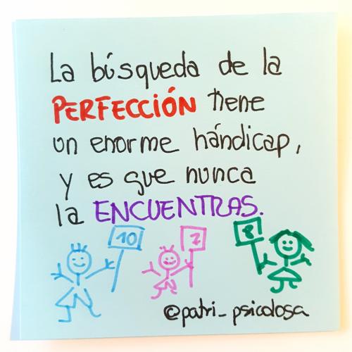 Perfección perfeccionismo