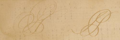 Samuel Pepys initials