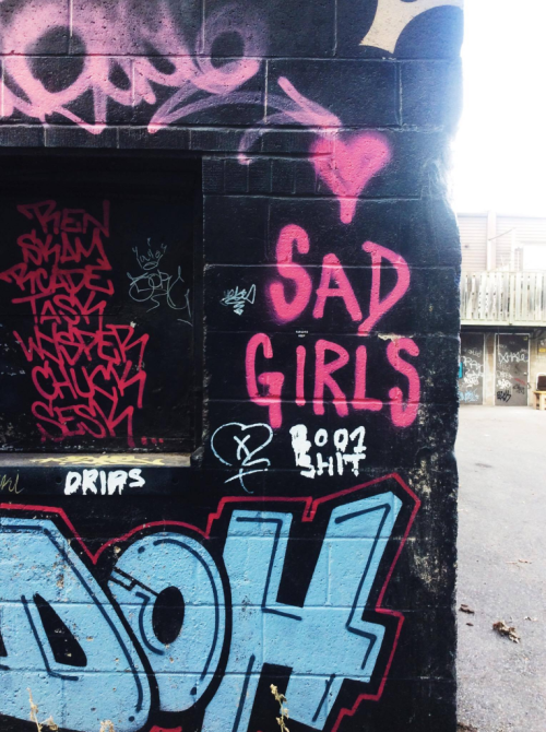 image of graffiti tags in Parkdale