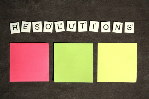 Resolutions spelt out with Scrabble letters
