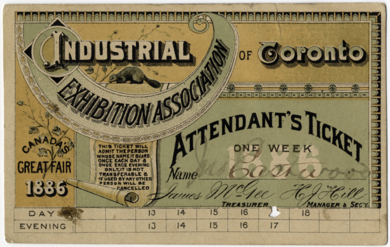 Cne ticket 1886industrialexhibitionvs