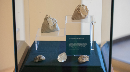 Bags of sod and minerals collected by Robert Baldwin