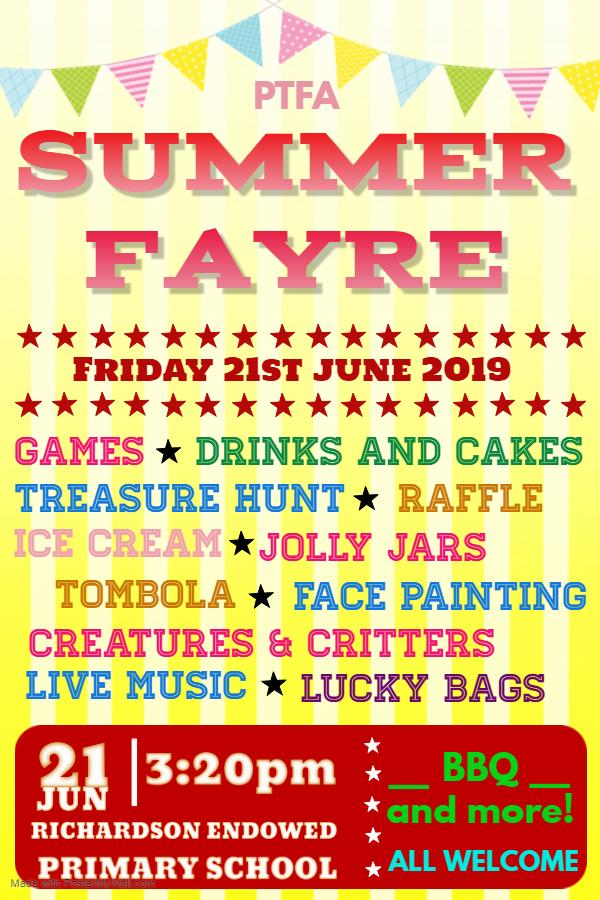 Summer Fayre Poster 2019