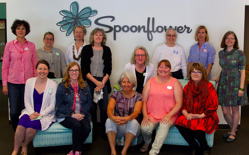 A perfect ending to a weekend at Spoonflower!