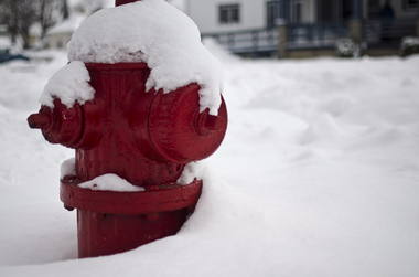 a fire hydrant covered in snow