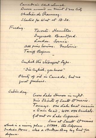Arthur Conan Doyle. Notebook, 1914