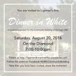 Ligonier Dinner in White: Fund-Raising Event for Community Building Renovation Project UMC